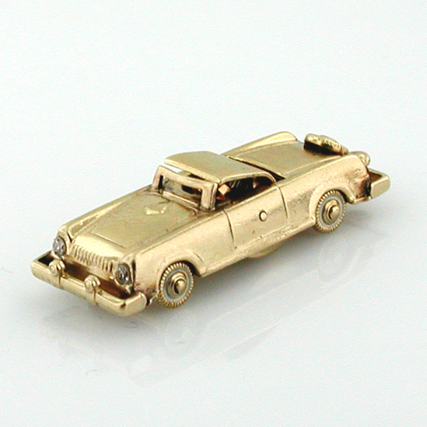 14K Gold Classic 1956 Continental Mark II Roadster Convertible Car Vintage Charm