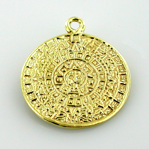 Welcome to splendid charms 14k gold aztec mayan maya calendar charm aloadofball Image collections