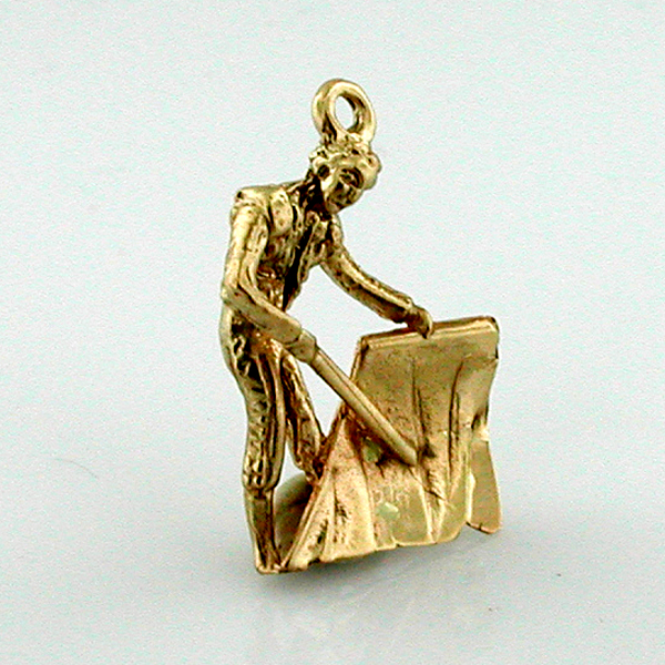 Matador 3D Bull Fighter 14K Gold Charm - Spain