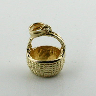 Nantucket Basket 3D 14K Gold Charm