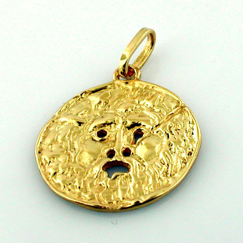 Bocca Della Verita - Mouth of Truth 14k Gold Charm Pendant