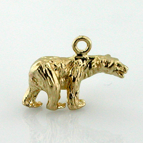 Polar Bear 14K Gold Charm - Alaska