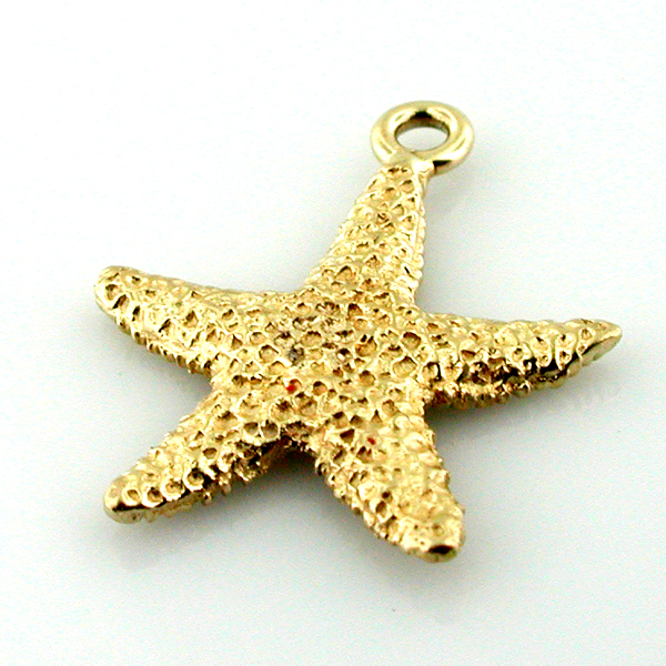 14K Gold Starfish Charm