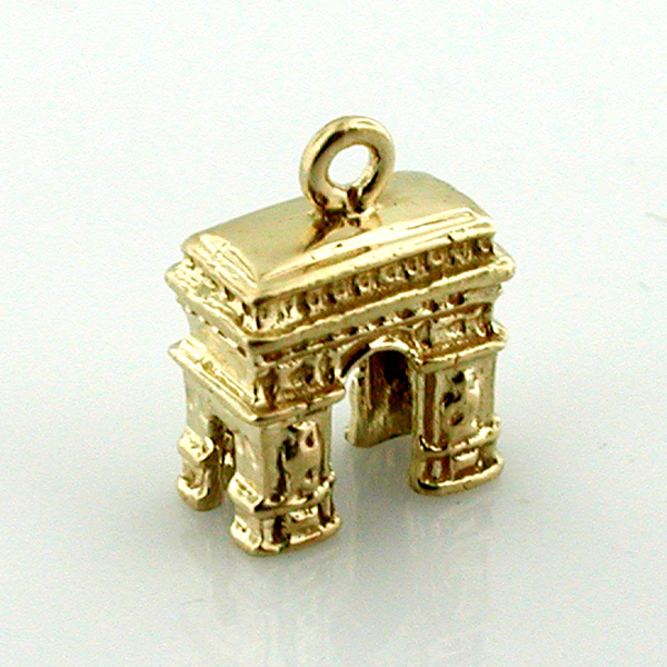 Arc de Triomphe 14K Gold Charm Arch of Triumph Paris