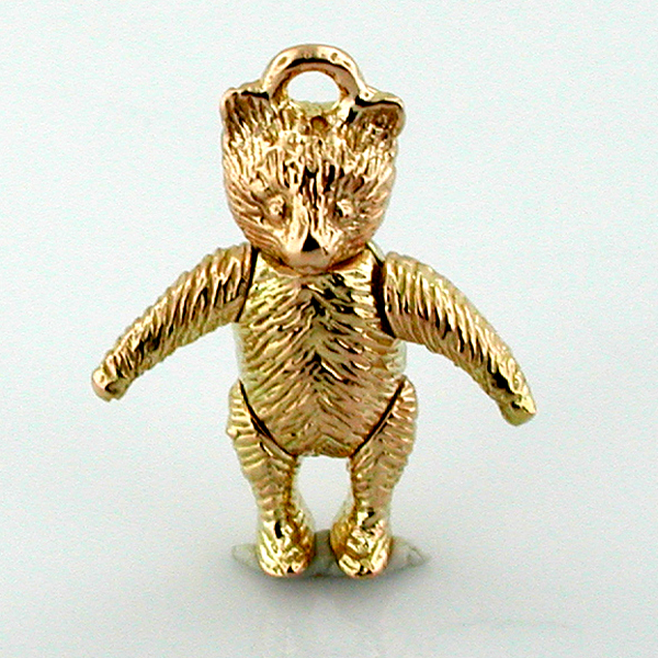 Teddy Bear 14K Gold 3D Movable Charm