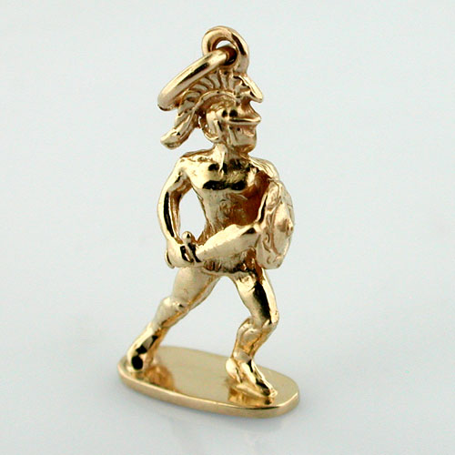 Tommy Trojan Statue at U.S.C 3D 14K Gold Charm