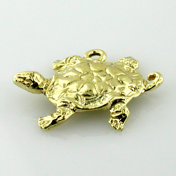 Turtle 14k Gold Charm