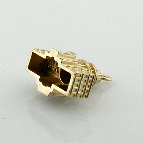 US Capitol Building Detailed 3D Travel 14K Gold Charm