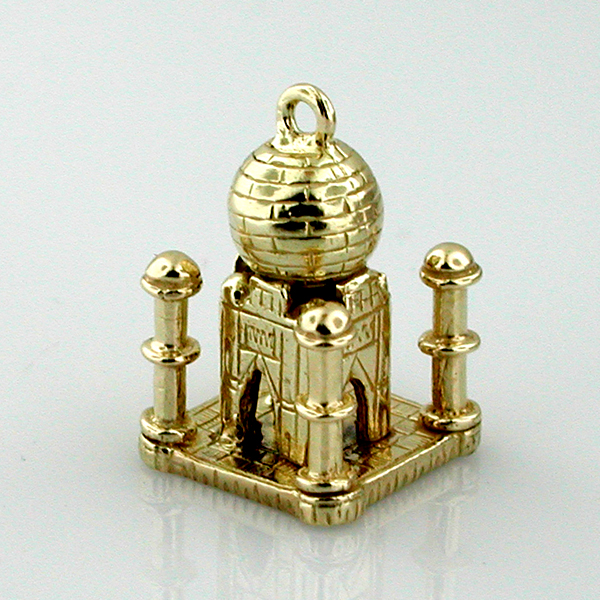 Taj Mahal Palace Travel 14K Gold Charm - India