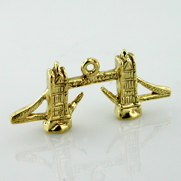 London Tower Bridge 14K Gold  Charm - ENGLAND