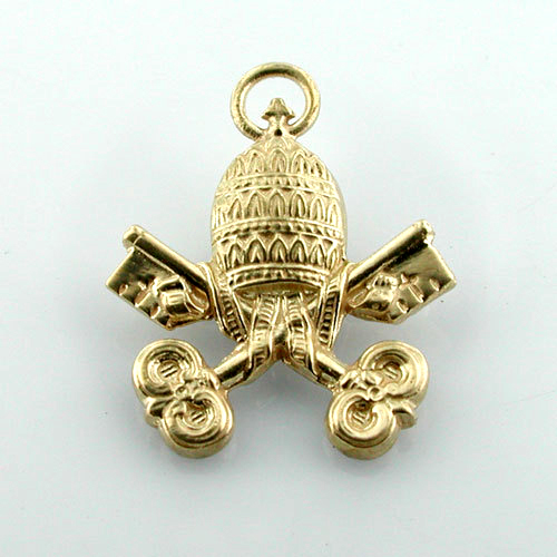 Vatican Coat of Arms 14K Gold Charm - Rome