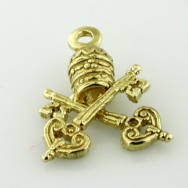 Vatican Coat of Arms 14K Gold Charm