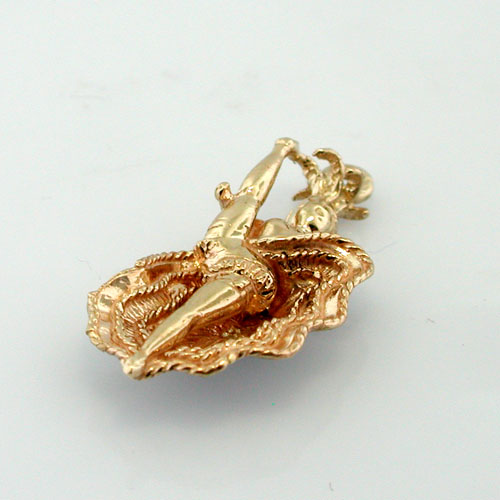 14k Gold Moulin Rouge Can Can Dancer 3D Charm