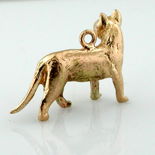 House Cat 14k Gold Charm