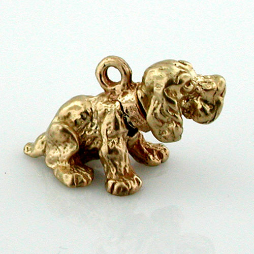 Bobbing Head Cocker Spaniel Dog 14k Gold Charm
