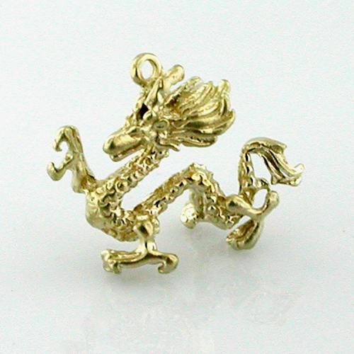 Chinese Dragon 14k Gold Charm