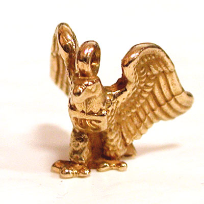 US Military American Eagle 14k Gold Charm