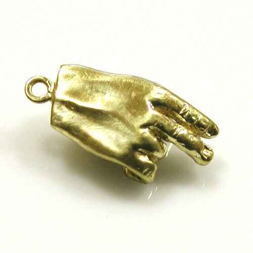 Dice in Hand 14k Gold Charm