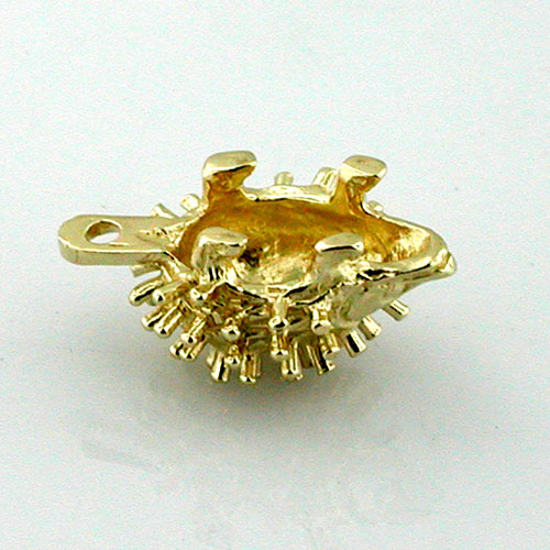 Cute Little Hedgehog 14K Gold Charm