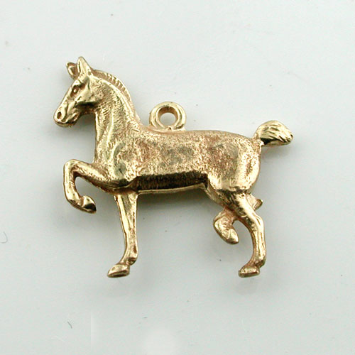 Prancing Show Horse 14K Gold  Charm