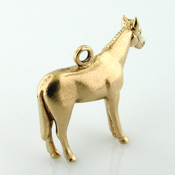 14K Gold Standing Horse 3D Charm
