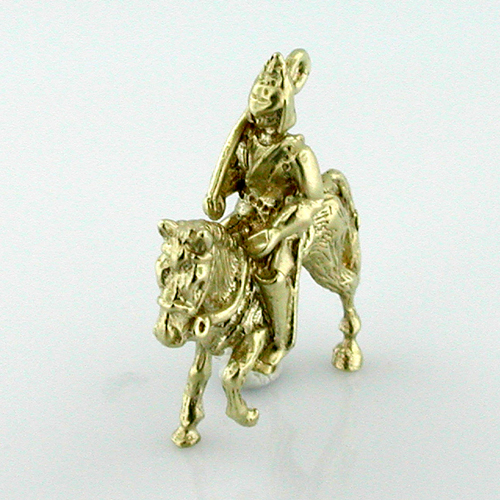 14k Gold Royal Queen Cavalry Horse Guard Charm