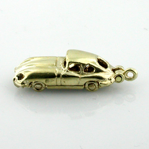 Jaguar Classic Car E-Type  XKE Coupe  14k Gold Charm
