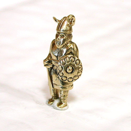 Viking Warrior 3D 14K Gold Charm - Norway