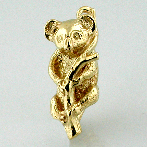 Koala Bear on a Branch 14K Gold Charm - Australia