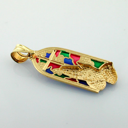 Michael Anthony - Praying Hands Plique a Jour Enameled 14k Gold Charm Pendant