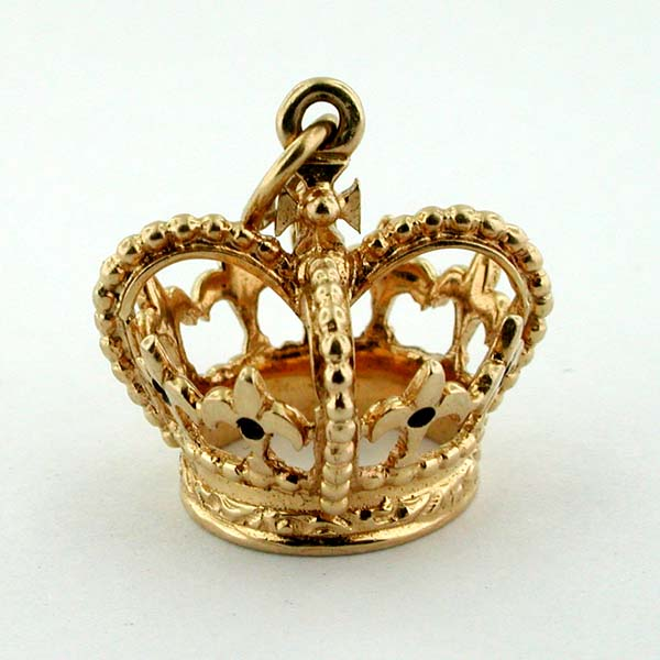 Dankner & Sons Royal Crown Vintage 14K Gold Charm Pendant