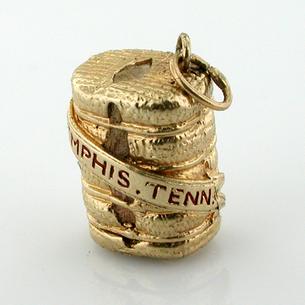 Bale of Cotton Memphis Tennessee Vintage 14K Gold Charm
