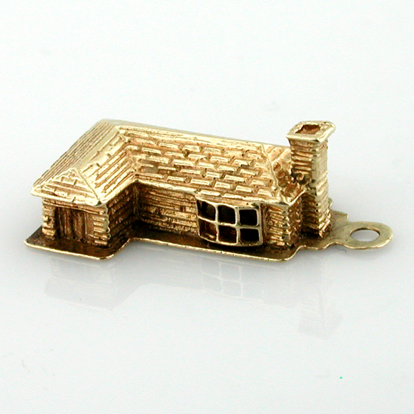 Vintage 14k Gold  Ranch Style House Charm