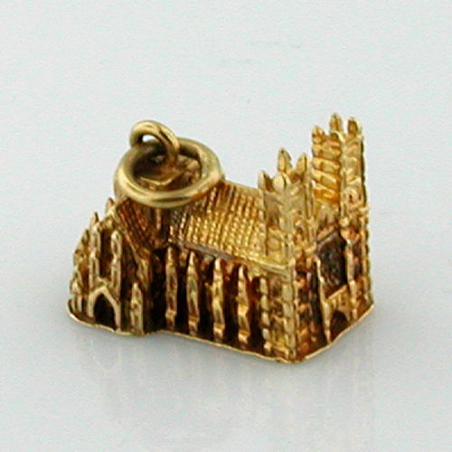 9k Gold Vintage Westminster Abbey 9ct Travel Charm London England